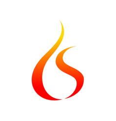 fire flames oild drop shape symbol graphic vector image