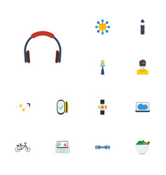 Flat icons storage payment hoverboard and other vector