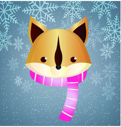 flat squirrel in a scarf close-up vector image