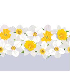 floral seamless pattern flower border background vector image