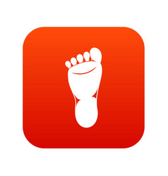foot left leg icon digital red vector image