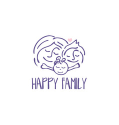 for happy family congratulation card vector image