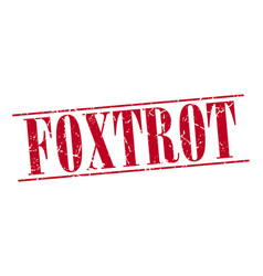 foxtrot vector image