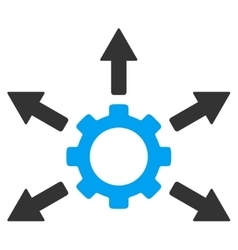 Gear Distribution Flat Icon vector