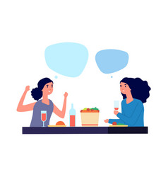 girls conversation woman talking flat female vector image
