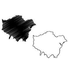 Greater london map vector