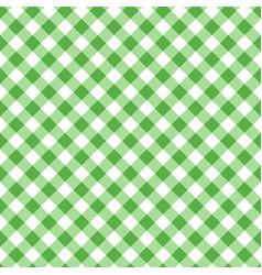 Green seamless table cloth texture diagonal vector