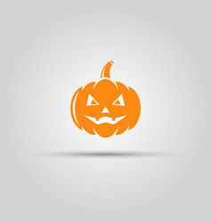 halloween pumpkin isolated icon vector image
