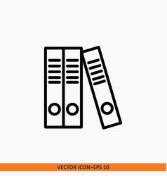icon file folder flat line outline black in vector image