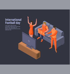 international football day concept background vector image