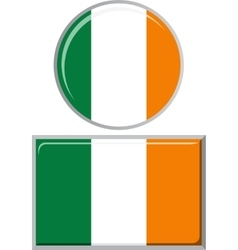 Irish round and square icon flag vector