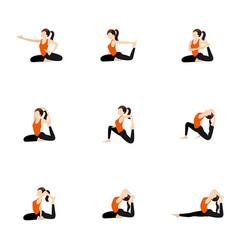 advanced arm balance yoga poses set royalty free vector
