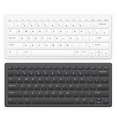 laptop keyboard notebook computer keys vector image