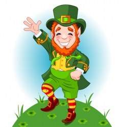 Leprechaun illustration vector