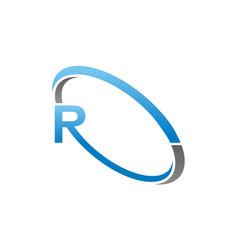 Letter r logo design template vector