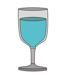 light coloured silhouette of glass of wine with vector image