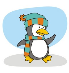 little penguin 1 vector image