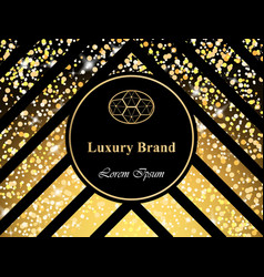 Luxury brand card with sparkling lights vector