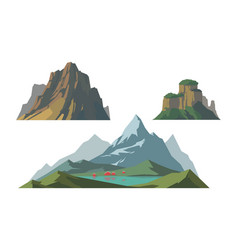 Mountain mature silhouette element outdoor icon vector