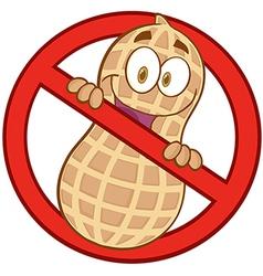 No peanuts vector image