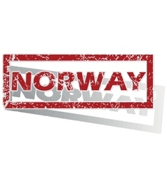 Norway outlined stamp vector