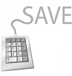 numeric keypad vector image