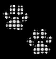 paw footprints halftone icon vector image
