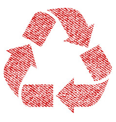 Recycle fabric textured icon vector
