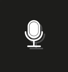 retro microphone icon - sound music - voice vector image