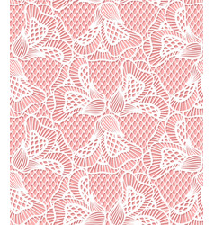 Seamless white flower lace pattern retro lace vector