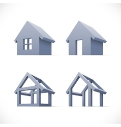 Set of abstract houses icons vector