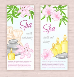 set of banners with hand drawn spa and massage vector image