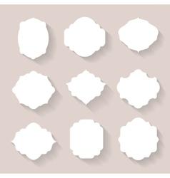 Set of white silhouette frames or vector
