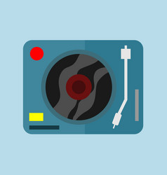 single dj turntable graphic vector image
