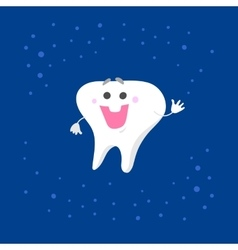 Smiling tooth character vector image