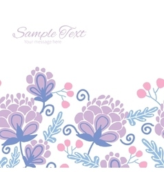 soft purple flowers horizontal frame vector image