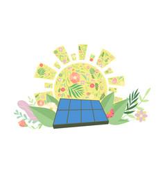 Solar panel alternative and renewable energy vector