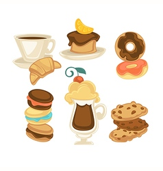 Sweet food vector