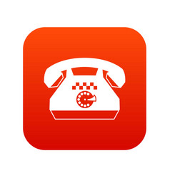 taxi phone icon digital red vector image