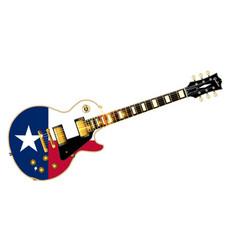 Texas flag guitar guitar vector
