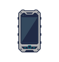 Touristic smartphone device with blank screen vector