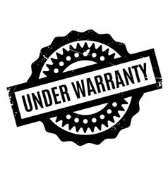 under warranty rubber stamp vector image