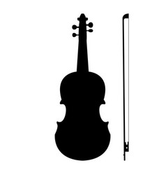 violin the black color icon vector image