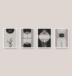 wall art minimal posters set vector image