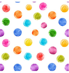 Watercolor rainbow spots pattern vector
