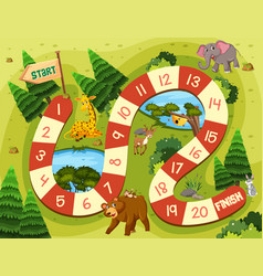 Wild animal board game vector