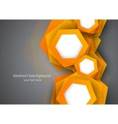 Background with orange hexagons vector image vector image
