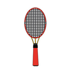 colorful image cartoon tennis racquet with handle vector image vector image