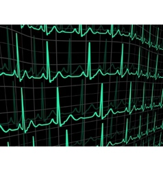 heartbeat on a black monitor eps 8 vector image
