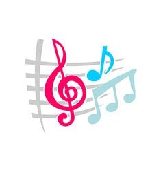 Notes music symbols vector